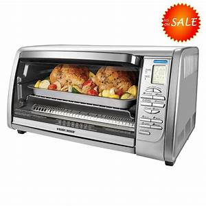 Black Decker Extra Large Xl Stainless Steel Countertop Convection Toaster Oven
