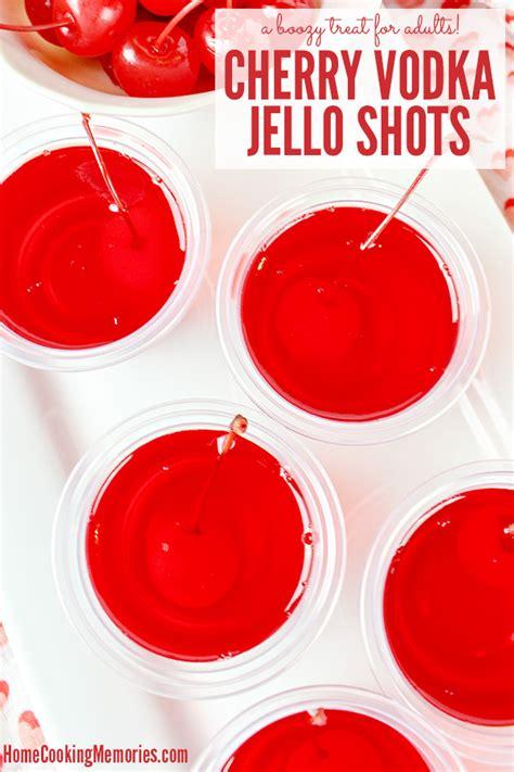 vodka jello cherry vodka jello shots recipe home cooking memories