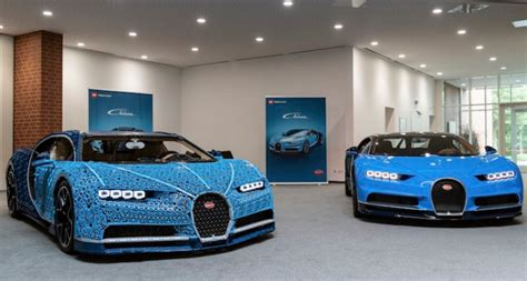 Using over a million lego technic pieces — along with 2,304 small lego electric motors — this bugatti chiron can reach speeds of almost 30 km/h. Life-Sized Bugatti Chiron Made With Over 1 Million LEGO Bricks Actually Drives