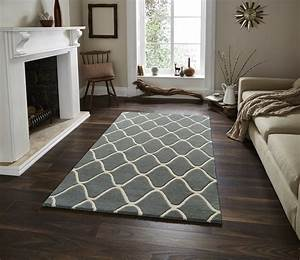 Wave Design Hand Tufted 100% Wool Rug Contemporary Home ...