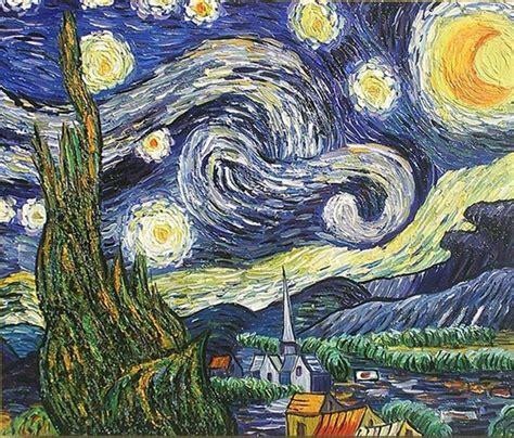 world famous painting  starry night van gogh handmade