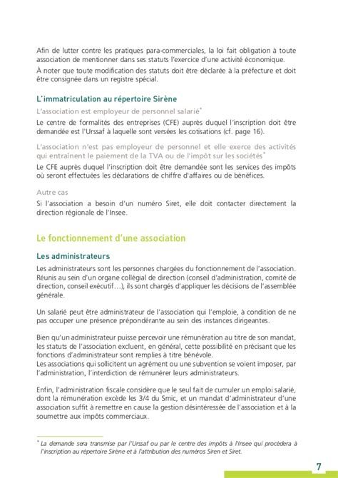 modification si鑒e social association guide urssaf l association et la protection sociale