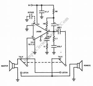 Simple door intercom simple circuit diagram for Simple door phone intercom circuit duplex circuit diagram of intercom