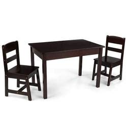 kidkraft 21453 farmhouse table and chair set kidkraft 26680 rectangle table 2 chair set espresso