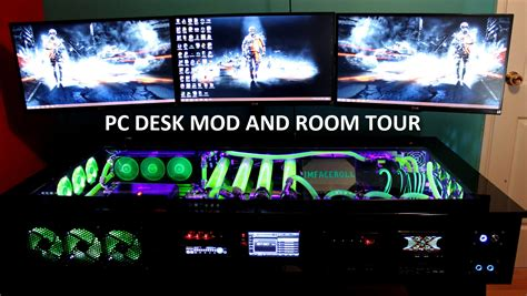 my fast pc help desk removal my gaming setup pc desk mod and room tour youtube