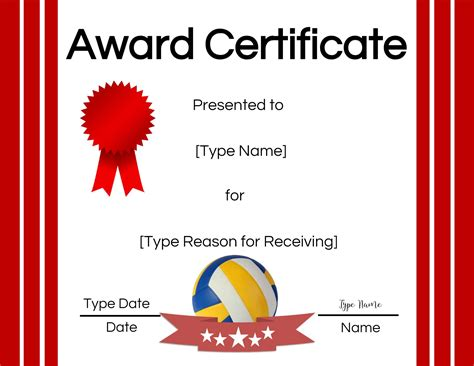 volleyball certificate edit   print  home