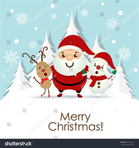 christmas cards shutterstock greeting card santa claus stock vector 519392422