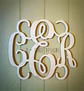 24 inch wooden monogram letters home decor weddings for Monogram letters home decor