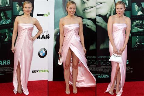 Kristen Bell Can't Avoid Wardrobe Malfunction At Premiere