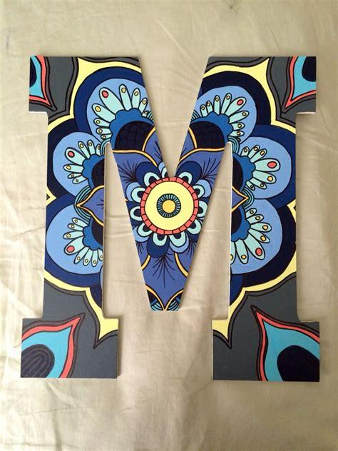 painted letter boho letter mandala sorority painted painted letters sorority letters