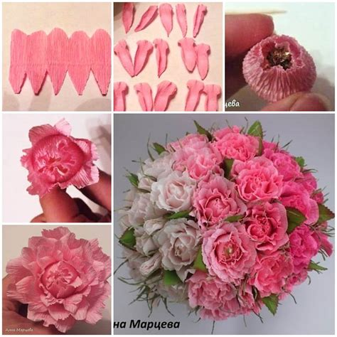 easy crepe paper chocolate flower