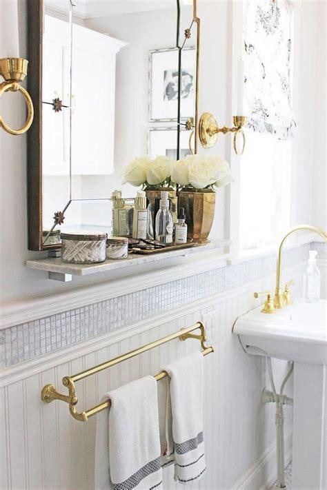 Brass Bathroom Mirror by 25 Best Ideas About Tile Around Mirror On