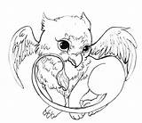 Griffin Coloring Pages Colouring Dragon Adult Sheets Acorns Spike sketch template