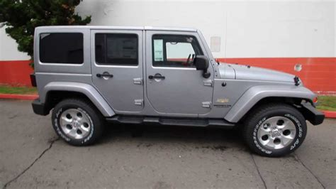 dodge jeep silver el147100 2014 jeep wrangler unlimited sahara