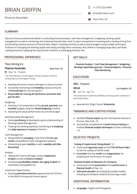 Resume Structure Template by Professional Resume Templates By Hiration