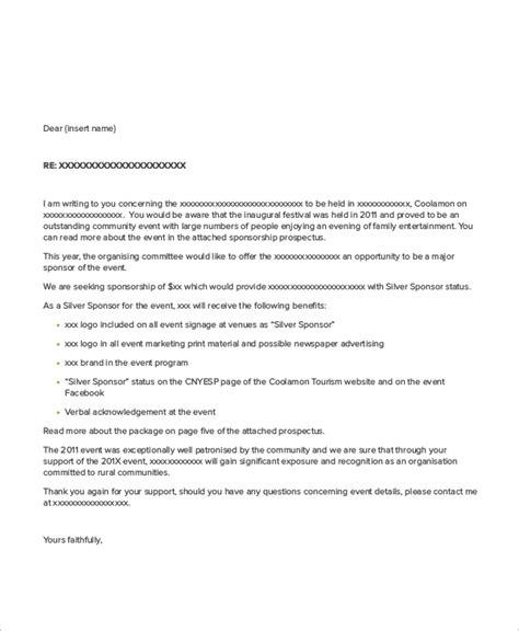 sample event sponsorship letters