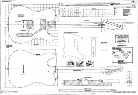 Rolled Plan To Build Telecaster Electric Guitar Diy