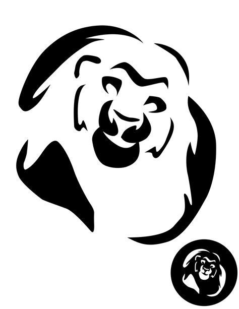 Lion King Mufasa Pumpkin Stencil Pumpkin Pattern
