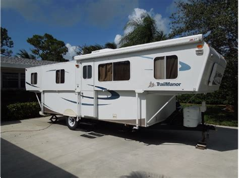 trailmanor  folding travel trailer rvs  sale