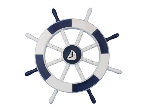 sailboat wheel wall decor buy blue and white decorative ship wheel with