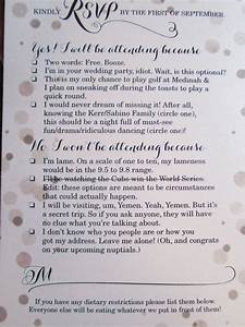 9 hilarious wedding invitations that simply cant be for Funny wedding invitations email