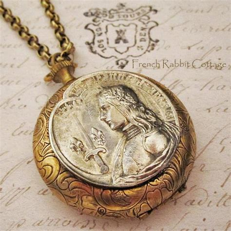 Joan Of Arc Locket Necklace  French Catholic Saint Religious. Elephant Jewellery. Line Jewellery. Enamel Paint Jewellery. Ceremonial Jewellery. Body Jewellery. Jadav Jewellery. Nail Jewellery. Drawing Jewellery