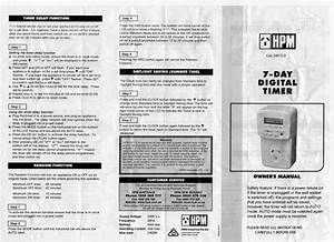 Programming Instructions For Hpm D817  2 Or 817  2