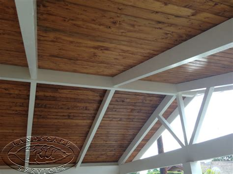 custom wood patio cover cypress craftsman orange