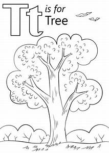 Letter T is for Tree coloring page from Letter T category ...