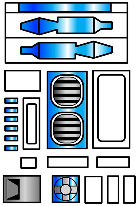 R2d2 Printable Template by R2d2 Cake Template