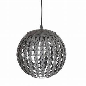 Bambou Noir Prix : lampe suspension bambou boule 30cm noir ~ Teatrodelosmanantiales.com Idées de Décoration