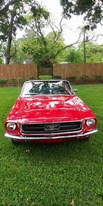 1st gen red 1967 Ford Mustang convertible automatic For Sale - MustangCarPlace