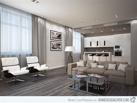 15 Modern White And Gray Living Room Ideas  Living Room