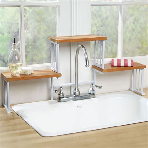shelf above kitchen sink 2 tier over the sink shelf kitchen faucet space saver