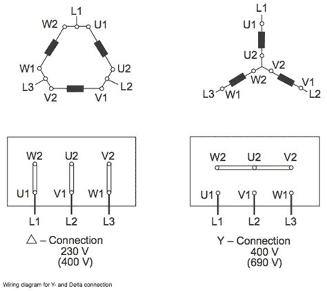 Delta Wye Motor Connection Diagram Electrical