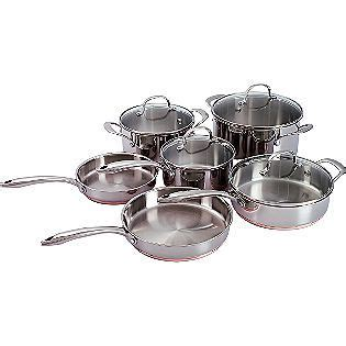 kenmore  pc copper band cookware cookware set stainless steel cookware kenmore