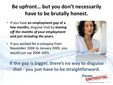 how to explain a gap in your work history employment gap