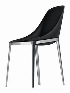 chaise elle assise cuir sellier pieds metal cuir noir With salle À manger contemporaineavec chaise pied metal noir