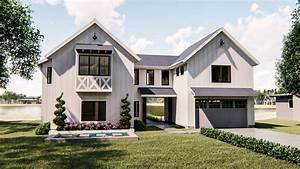 1, 5, Story, Modern, Farmhouse, Style, House, Plan