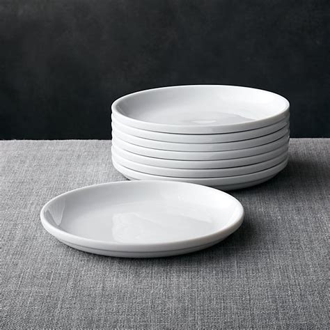 set   logan stacking salad plates crate  barrel
