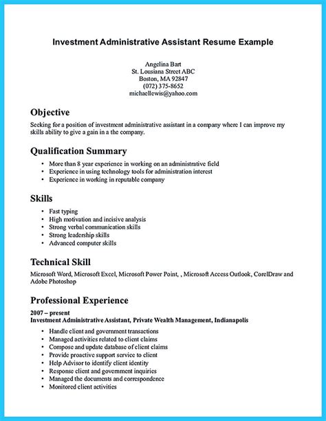 Sle Resumes For Administrative Assistant by Administrative Assistant Resume Sle Is Useful For You