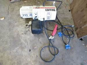 Coffing Model Jlc Electric Overhead Chain Hoist 250lbs 1  8