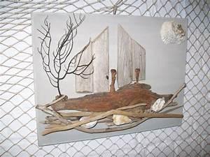 Tableau En Bois Décoration : toile decoration bois flottes thierry doyen fabricant de luminaires en galets et bois flott s ~ Teatrodelosmanantiales.com Idées de Décoration