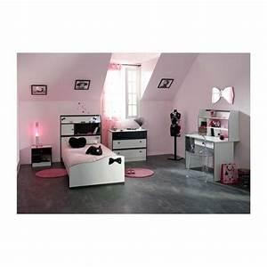 Bureau Chambre Fille : chambre fille 4 pi ces avec bureau disco noire et blanche achat vente chambre complete pas ~ Teatrodelosmanantiales.com Idées de Décoration