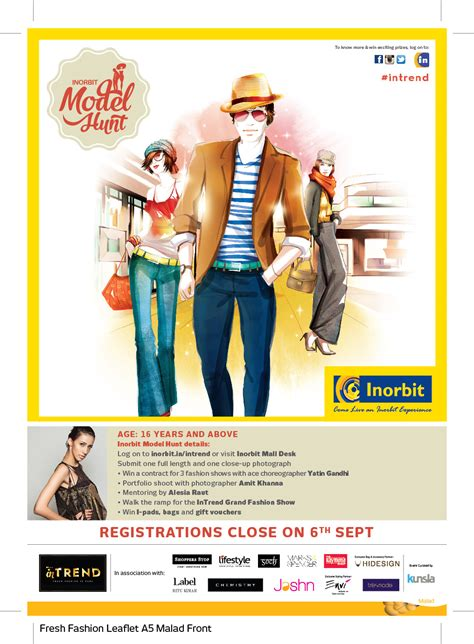 INORBIT MALL ANNOUNCES INTREND - A MODEL HUNT AND FASHION ...