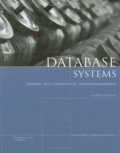 database systems design implementation and management isbn 9781423902010 database systems design