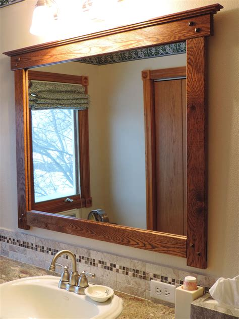 Mission Style Bathroom Mirror I Custom Made From Salvaged