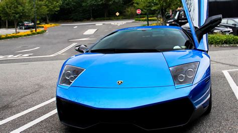 Hd Wallpaper Blue Car by Blue Lamborghini Car Wallpaper Hd Car Wallpapers Id 2789