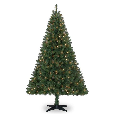 ashland pre lit windham spruce 6 ft pre lit green windham spruce artificial tree clear lights by ashland