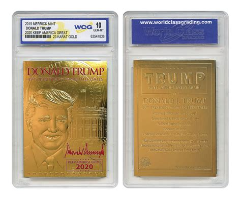 Yahoo finance is tracking the performance of the economy under president donald trump, compared with six prior presidents going back to jimmy carter. 2020 Donald Trump 24-Karat Gold Card-Military Issue